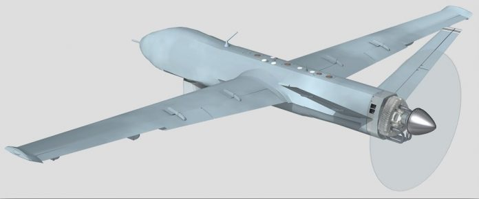 Rendering of UAV powered by LiquidPiston's engine