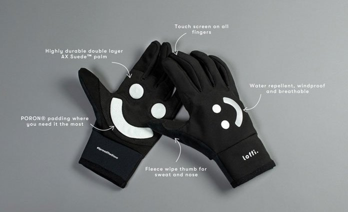 Glove showing features.
