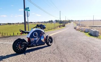 World's first electric bike with engine sound