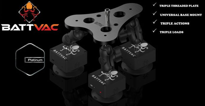 Universal base mount and triple threaded plate