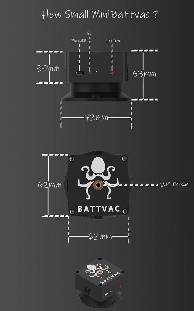 Mini Batt Vac design