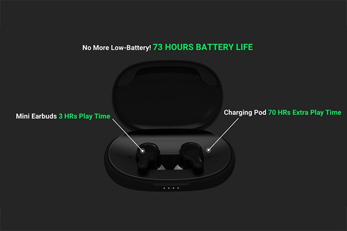 Image shows battery life