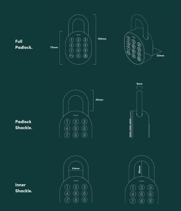 igloohome Smart Padlock specifications