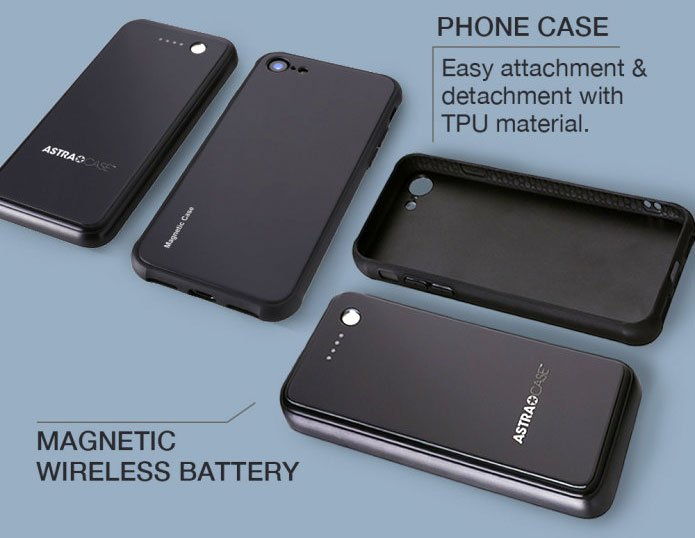 AstraCase set of battery and case