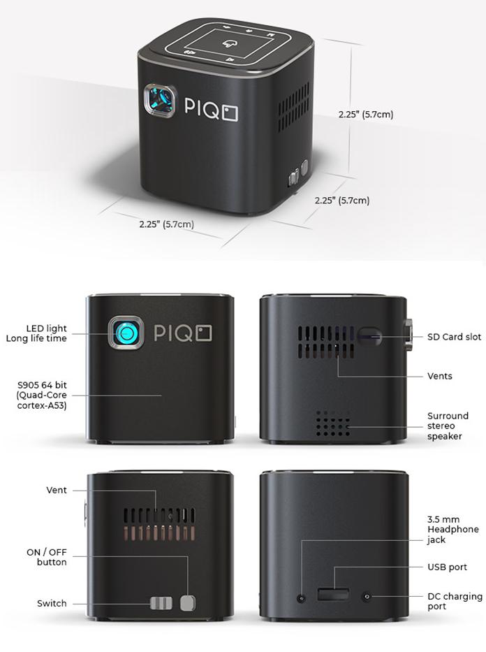PIQO dimensions