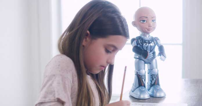 Little Sophia makes STEM, coding and AI a fun