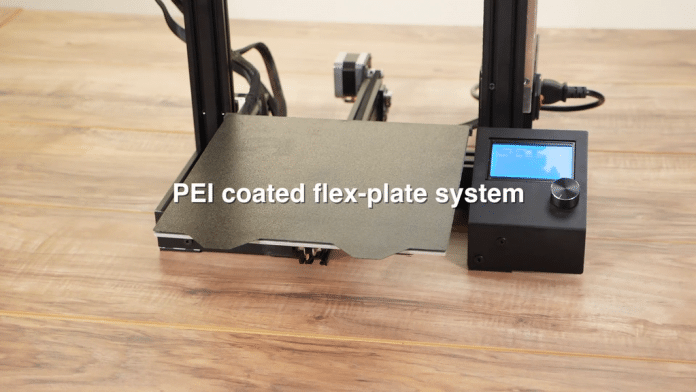 PEI coated flex-plate system for 3D printers