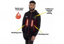 Devacci : Electronic heated hoodie