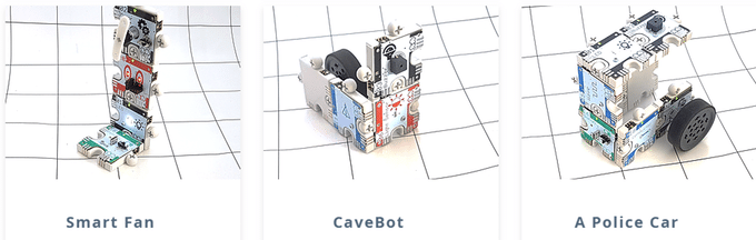 Robots made using ActivePuzzle kit
