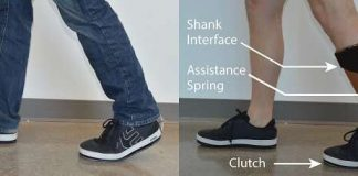 The new ankle exoskeleton design integrates into the shoe and under clothing.