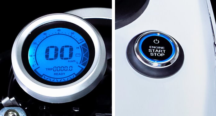 Smart Motorcycle: Speed meter and Push Button
