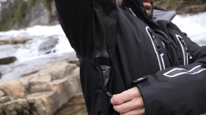 Packsture Jacket: Underarm Ventilation