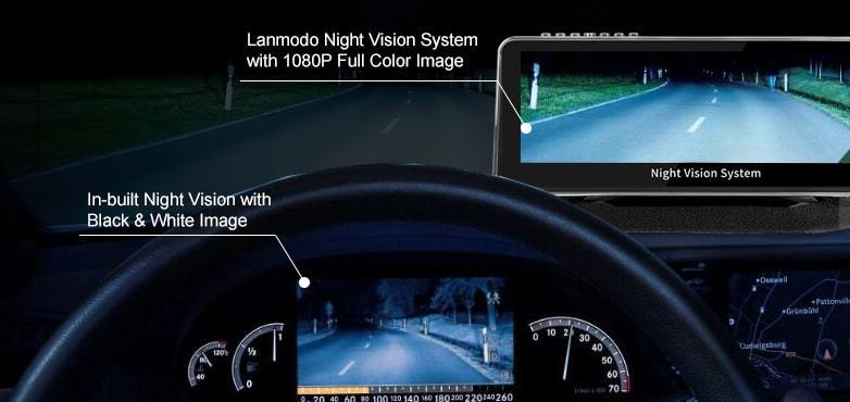 Lanmodo Vast vs in-built night vision system