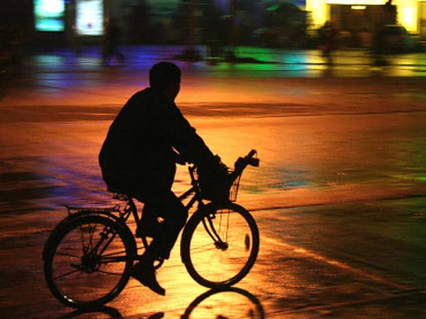 Riding bicycle in dark can be risky