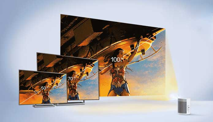 "XGIMI MoGo: 100"" HD screen"