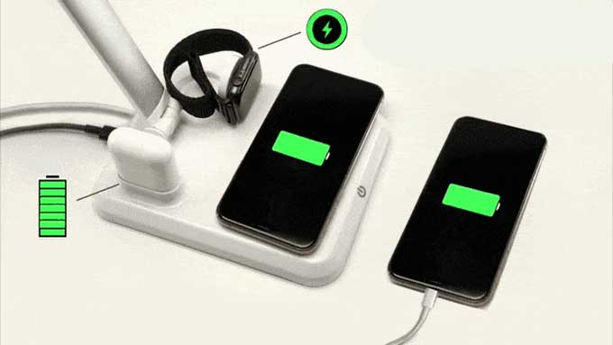 ToQi Base can charge up to five devices simultaneously.