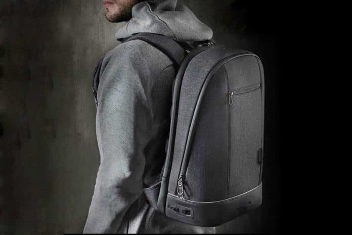 A man wearing Agazzi Urban Backpack