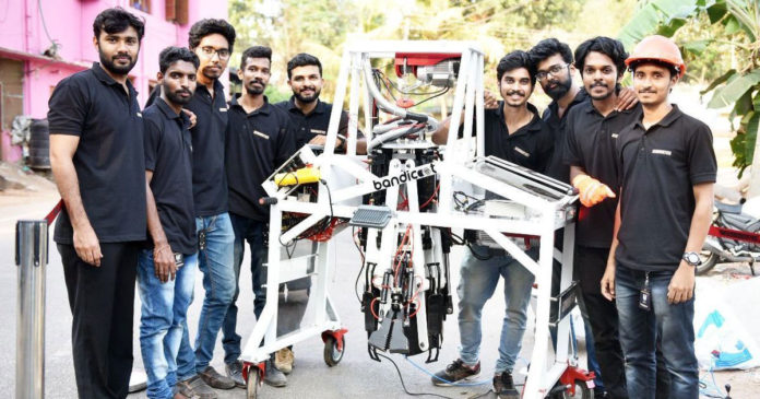 Generobotics team with Bandicoot robot