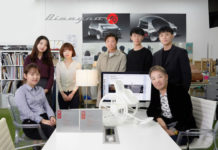 Professor Yunwoo Jeong (front row right) and his design team will design autonomous vehicles for the iGeneration in collaboration with Hyundai Motor Group.