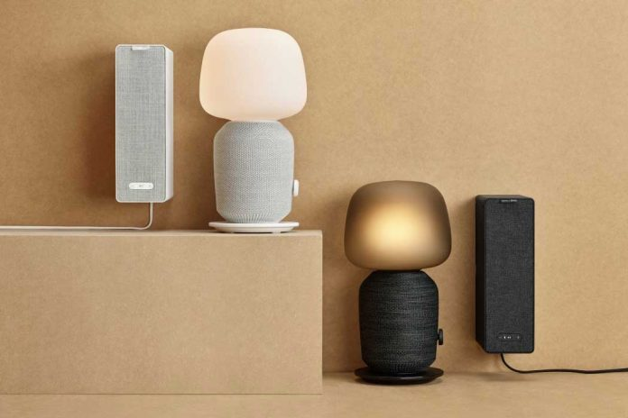 The SYMFONISK table lamp speaker and Bookshelf
