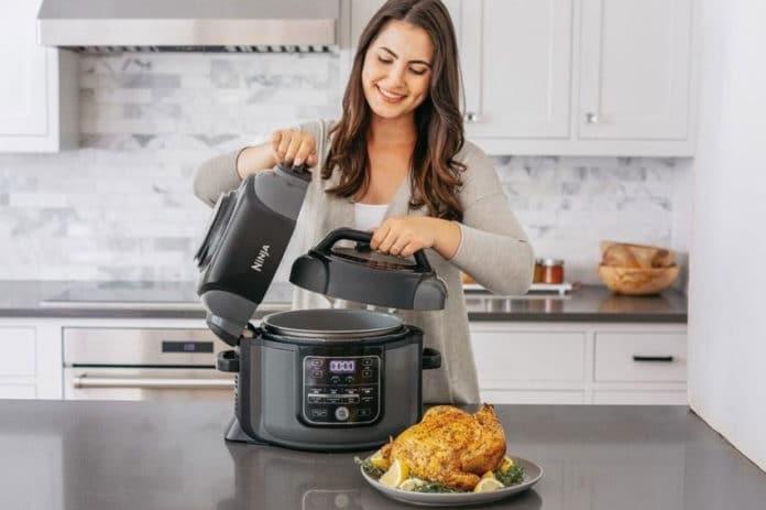 Ninja Foodi all-in-one pressure cooker, air fryer, and steamer