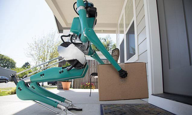The robot can deliver packages to your doorstep.