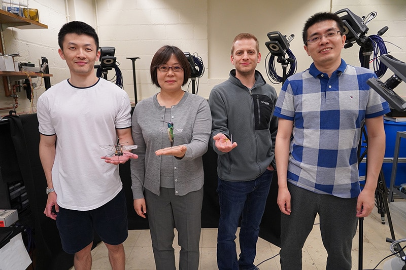 Xinyan Deng and her team of researchers (Purdue University photo/Jared Pike)