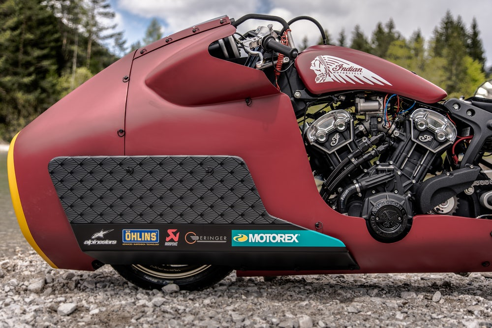 One of the odder-looking front ends we've seen in a while(Credit: Indian Motorcycle)