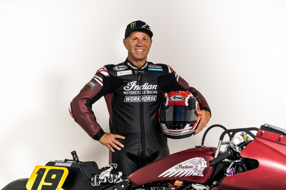 500cc GP legend Randy Mamola is signed up to race this thing(Credit: Indian Motorcycle)