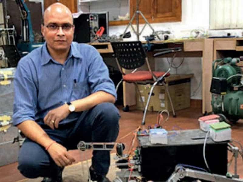 Professor Ashish Dutta, with professor KS Venkatesh, has designed robotic hand exoskeleton for rehabilitation of stroke patients.