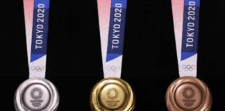 Tokyo 2020 Olympic Medal from recycled e-waste