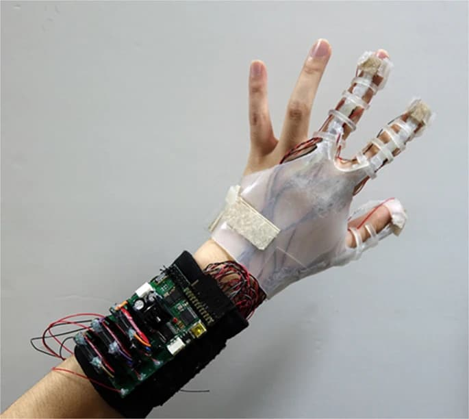 The actual appearance of the integrated glove.