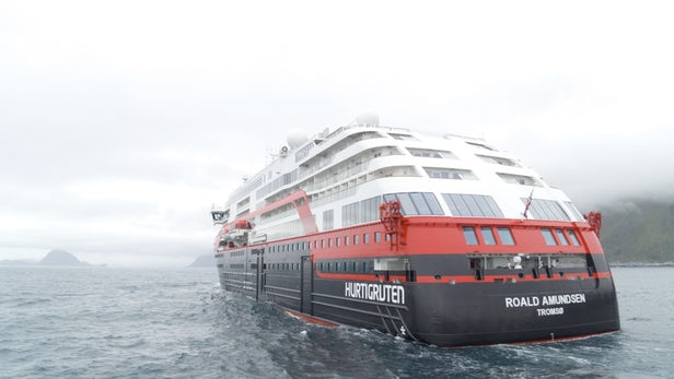 The MS Roald Amundsen is designed specifically for the frigid polar waters/ Image: Hurtigruten