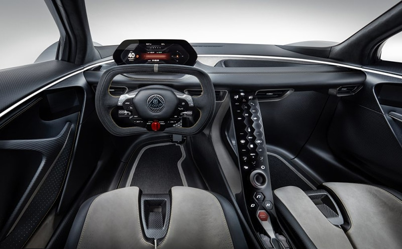 Motorsport-inspired interior is as dramatic as the exterior/ Image: Lotus