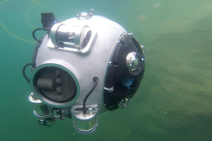 An underwater vehicle to explore abandoned mine sites/ Image: UNEXMIN project.