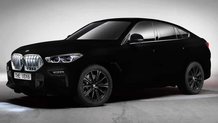 The BMW VBX6 is the first and only vehicle in the world to feature a Vantablack VBx2 coating.