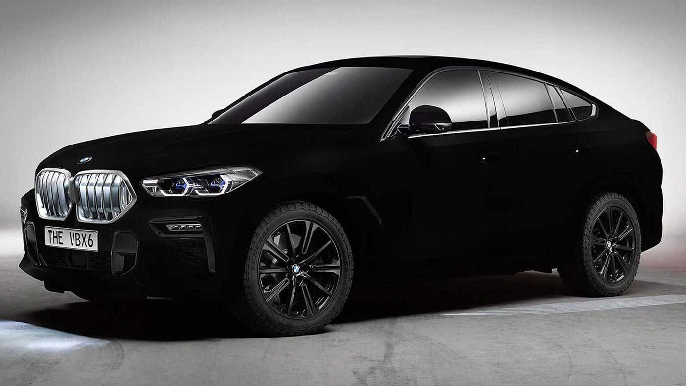 bmw revealed the world 39 s blackest car vantablack bmw x6. Black Bedroom Furniture Sets. Home Design Ideas