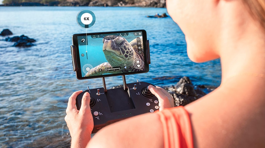 The 6x zoom camera allows you to get closer shots without disturbing the marine life you are photographing./ Image Credit: Youcan Robot