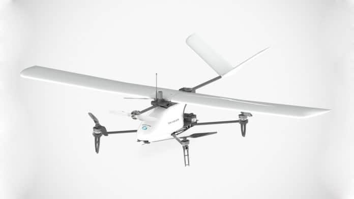 The new Heliplane v.2 Drone Hybrid VTOL. Image Credit: Drone Volt