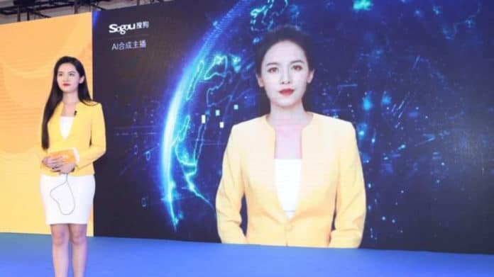 Yanny, an avatar developed by Sogou, was debuted as the company announced its plan for AI novel-readers. Image Credit: Sogou/BBC.