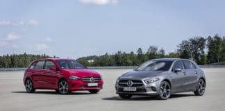 Mercedes-Benz Plug-in-Hybrid A250e and Mercedes-Benz Plug-in-Hybrid B250e. Image Credit: Mercedes-Benz