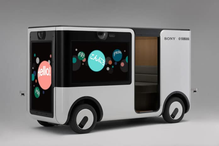 The SC-1 Sociable Cart, a vehicle that delivers a new mobility experience./ Image Credit: Sony