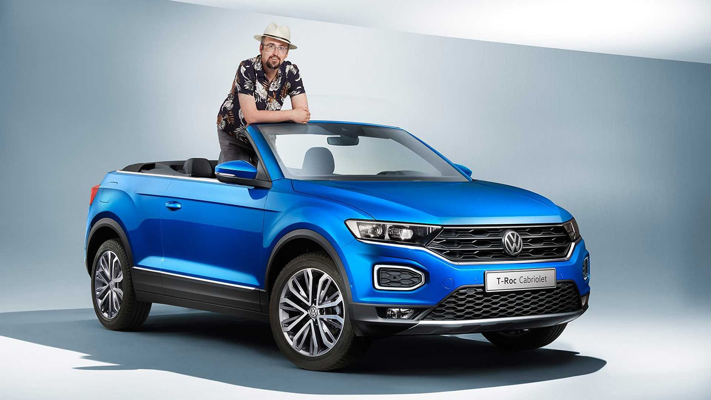 volkswagen revealed a convertible version of its t roc suv. Black Bedroom Furniture Sets. Home Design Ideas