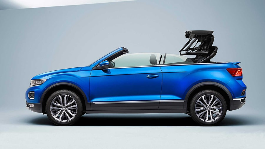 T-Roc Cabriolet comes with an electrically folding soft top./ Image Credit: Volkswagen