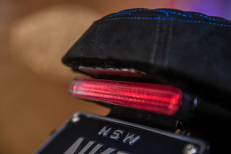 The integrated LED tail-lamp