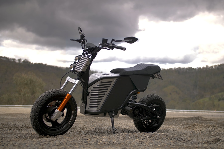 New electric motorcycle is versatile enough that you could take it off-road into sand dunes and hills.