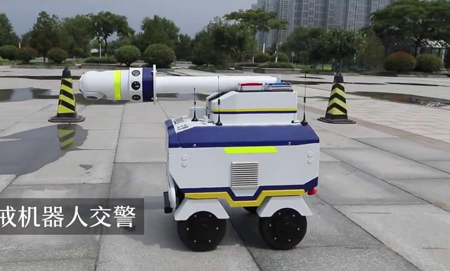 Accident robots are assigned to help keep order at the site of a traffic accident or incidents
