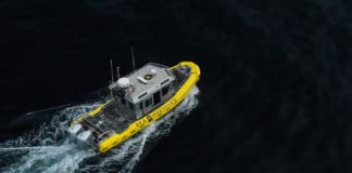 Sea Machines Successfully Deploys Industry's First Autonomous Spill-Response Vessel./ Image Credit: Sea Machines