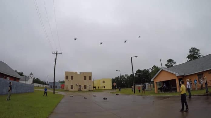 Teams test swarm autonomy in second major OFFSET field experiment.