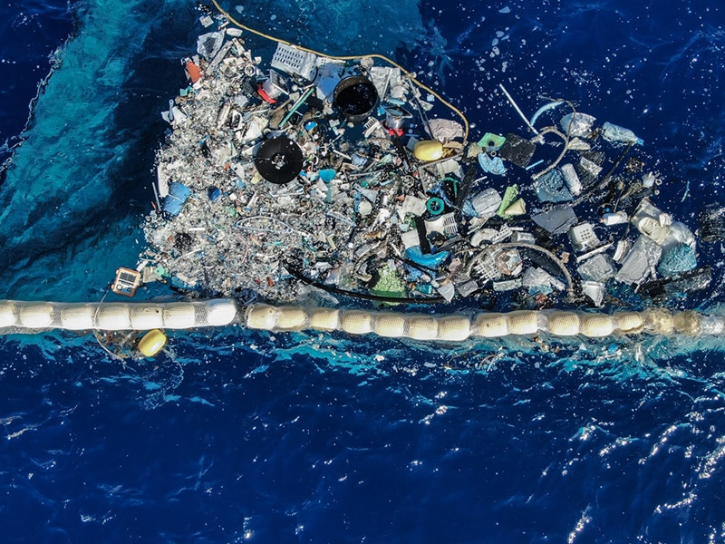 The system is able to hold on to the concentrated plastic without human aid.